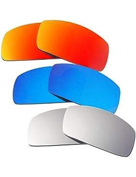 Hkuco Plus Mens Replacement Lenses For Oakley Canteen (2006) Red/Blue/Titanium Sunglasses
