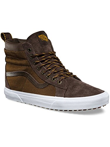 Vans Men's SK8-Hi (MTE) Textile Lace Up Trainer Demitasse / Ballistic-Brown-10 Size 10