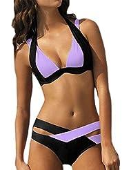 Moin Las mujeres forman al hueco bikini atractivo Traje de baño partido
