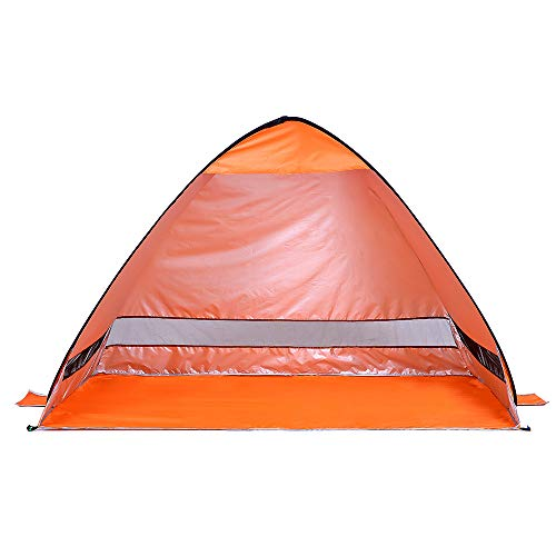 ZXCVBW Durable Lightweight Tent Wasserdicht Instant Pop Up Beach Tent UV-Schutz Sun Shelter Zelt Sonnenschirm Baldachin für Outdoor, Orange (Für Lanyards Billig Masse Der In)
