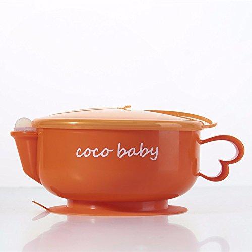 Farity-p Kinder Geschirr - Edelstahl Wasser Isolierung Schüssel Saug's Cup Kinder Geschirr kreative praktische Schüssel, orange (Edelstahl Saug-schüssel)