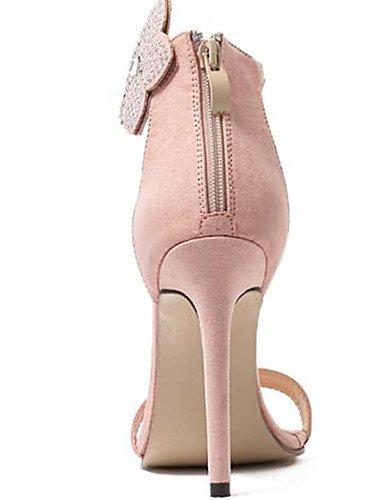 WSS 2016 Chaussures Femme-Décontracté-Noir / Amande-Talon Aiguille-Talons-Talons-Laine synthétique almond-us8.5 / eu39 / uk6.5 / cn40