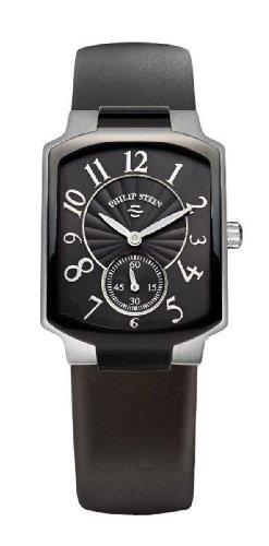 Philip Stein - 21TB-FB-RB - Montre Femme - Quartz Analogique - Cadran Noir - Bracelet Silicone Noir