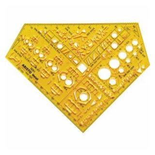 Aristo Schablone 'Metall' gelb