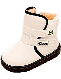 Minetom Niña Zapatos Bebe Blanda Antideslizante Zapatillas Casual Calzado Botas De Nieve Invierno Cómodo Cara Sonriente Cuero PU Bootie