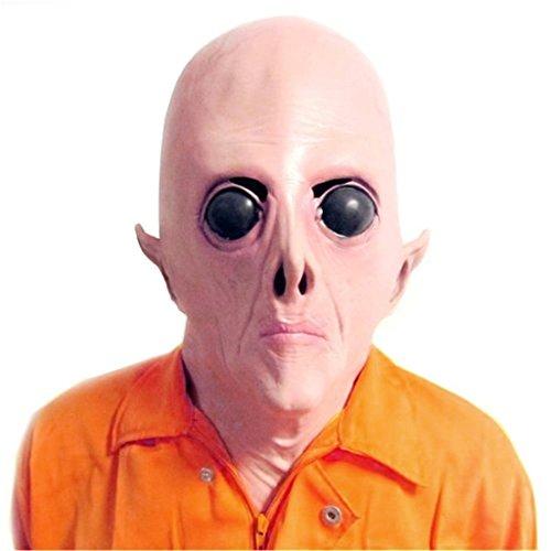 Auspicious beginning Scary UFO Alien Kopf Latex Maske für Erwachsene Kostüm Party