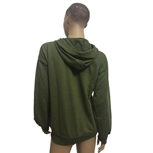Femmes Sweatshirts,Jimma® Pull Sweatshirt Sweat manches longues Manteau à capuchon décontracté Vert de l'armée