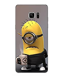 Make My Print Minions Printed Multicolor Hard Back Cover For Samsung Galaxy Note 7