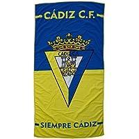 Cádiz CF Toacad Toalla, Amarillo/Azul, Talla Única