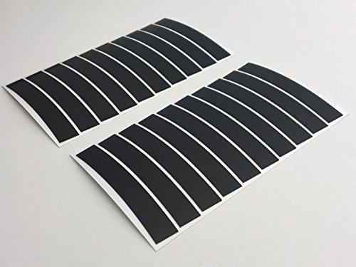 PULHEM reflektierende Reflex-Aufkleber 10mm schwarz