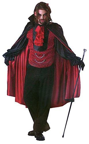 (Tante Tina Herrenkostüm - Fürst der Nacht Vampire - Schwarz/Rot - Gr. XL (Gr. 58/60))