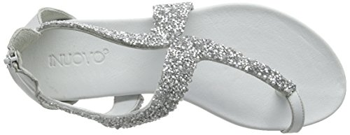 Inuovo 6025, Sandales Plateforme femme Blanc - Blanc