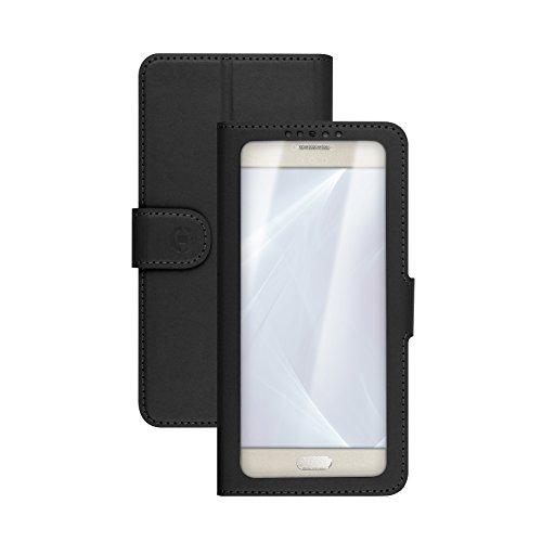 "Celly Unica View Funda para teléfono móvil 12,7 cm (5"") Folio Negro - Fundas para teléfonos móviles (Folio, Universal, 12,7 cm (5""), Negro)"