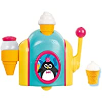 TOMY Toomies Foam Cone Factory Baby Bath Toy | Ice Cream Themed Bubble Making Toy |Christmas Gifts Suitable For 18M & 2 3 & 4 Year Old Boys & Girls