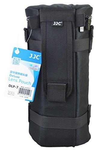 JJC dlp-7130x 310mm Deluxe Objektiv Tasche mit Umhängeband, wasserabweisend, Schwarz