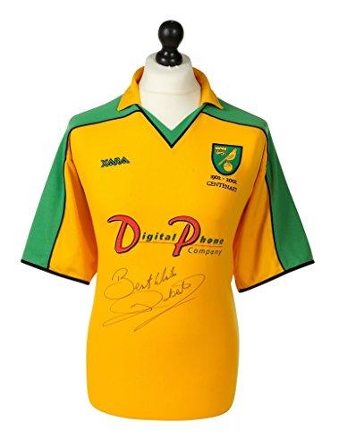Iwan-Roberts-Signed-Shirt-Autograph-Norwich-City-0103-Jersey-Memorabilia-COA