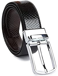 KAEZRI Reversible Pu Leather Black|Brown Casual|Formal Belt For Men and Boys( One Years Guarantee) -belt for men formal leather-belt for men casual-gifts for men-Please select your Belt size as per your Waist/pant/Jeans size from Drop Down Below Belt For Men Casual (BUY ORIGINAL KAEZRI PRODUCTS ONLY FROM KESARI TRADERS)