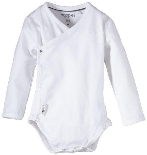 Noppies Unisex - Baby Spieler U Romper Ls Ziara, Einfarbig, Gr. Neugeborene (Herstellergröße: 74), Weiß
