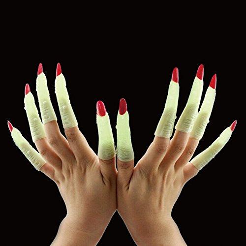 Yimosecoxiang Yimosecoxiang Halloween-Make-up-Requisiten, 10 Stück, leuchtet im ()