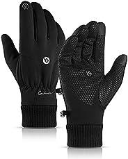 A.Docarple vinterhandskar för män och kvinnor - pekskärmshandskar vattentäta halkfria silikon termiska handska