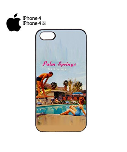 California Palm Springs Retro Vintage Cell Phone Case Cover iPhone 5c Black Schwarz