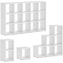 BOON 1x1 Système d'étagères Cube | modulable & flexible | 38x40x33 cm (LxHxP) - blanc