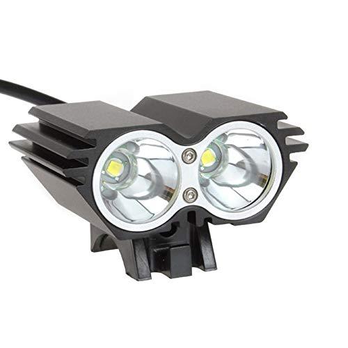 Super helle USB-Fahrradlichtscheinwerfer T6 Fahrradgroßhandel im Freien professionelle Blendung LED-Scheinwerfer, geeignet für Nachtfahren, Radfahren und Camping,Black (Bontrager Super)