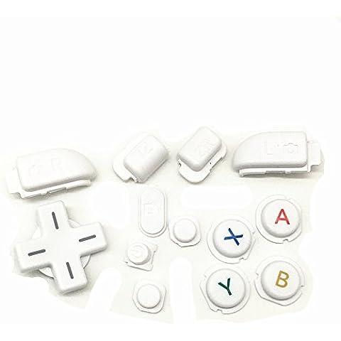 Zhuhaixmy inizio a casa di sostituzione selezionare il pulsante LR ABXY Home Start Select LR Button Key per Nintendo NEW 3DSLL 3DSXL Console Color 4 - Abxy Pulsanti