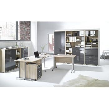 Arbeitszimmer komplett Set MAJA SYSTEM 1204 Büromöbel in Eiche ...