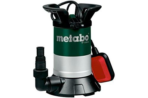 Metabo 251300000 Klarwasser Tauchpumpe TP 13000 S | + Winkelanschlussstück mit Multiadapter, Schwimmerschalter | Gehäuse Kunststoff/Automatikbetrieb (550 W/F.menge 13000 l/h / Druck: 0.95 bar)