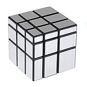 Cooja Cubo Mirror Cubo Espejo, Magic Cube 3×3 Cubo Especial Silver Mirror, Pegatinas Cube Cubo de Velocidad