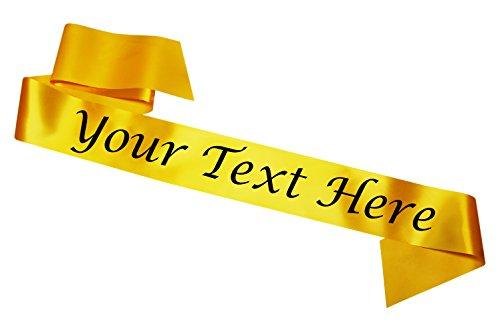 Bandas personalizables Amarilla Despedida soltera