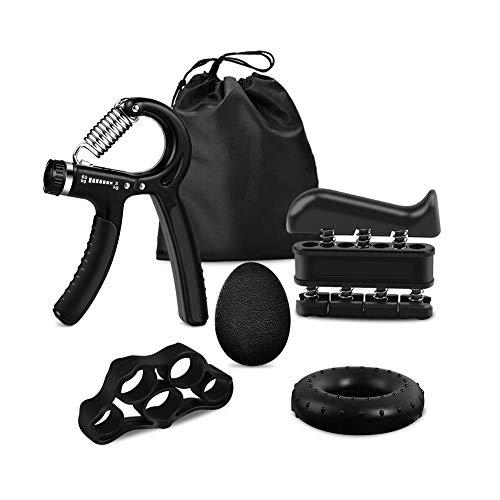 iToncs Handtrainer 5 STK, Mini Handtrainer Fingertrainer Unterarmtrainer zur Gitarrist Klettern, Fingerhantel Unterarm Trainingsgerät für Zuhause Fitness Therapie Griffkraft Trainer