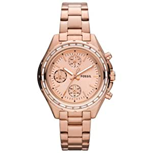 Fossil - CH2826 - Montre Femme - Quartz Chronographe - Chronomètre - Bracelet Acier Inoxydable Rose