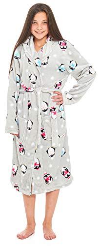 Slumber Hut® Mädchen Penguin Fleece Morgenmantel - Kinder Luxus mit Kapuze  Supersoft Grau Novelty Robe ed80c05b8