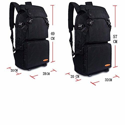 TBB-Doppia tracolla grande capacità viaggia zaino alpinismo sacchetto esterno impermeabile borsa svago,arancio grande Grey