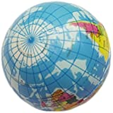 Baring 5 PCS Soft Foam Globe Squeeze Stress Ball Earth Ball Stress Relief 60mm Toys