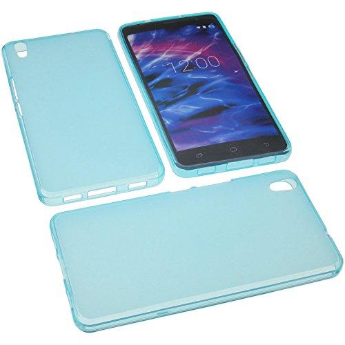 foto-kontor Tasche für MEDION Life S5504 Gummi TPU Schutz Handytasche blau