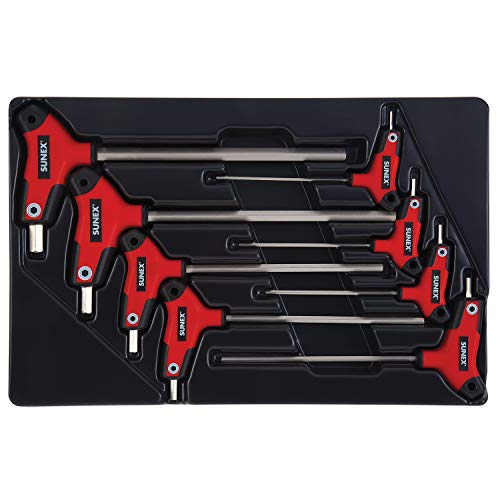 Metric Hex Set (Sunex 9858M, Hex Key Set, 8Piece, Metric, 2mm to 10mm, Comfort Grip, Rubber Overmolded Handle, Storage Tray)