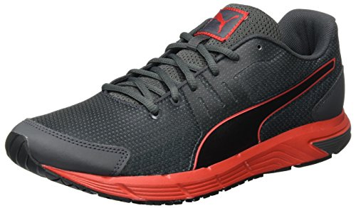 Puma Herren Sequence v2 Laufschuhe, Grau (Asphalt-Puma Black-High Risk Red 07), 43 EU