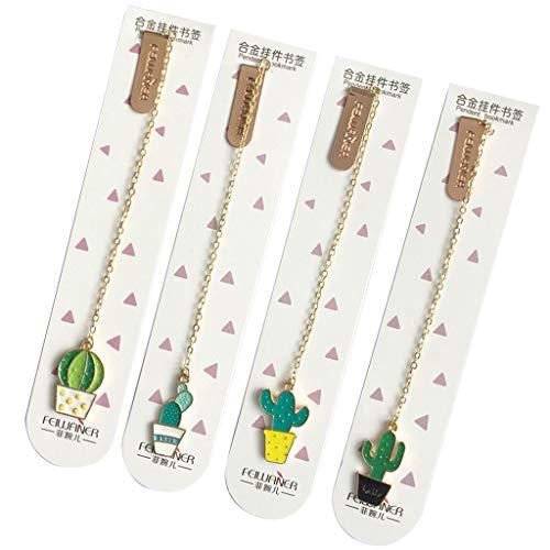 1PC mignon Cactus signets pour les livres papier Marque-page papeterie Fournitures scolaires par Yyooo