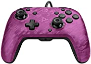 PDP Gaming Faceoff Deluxe + Audio Wired Controller Faceplate: Purple Camo - Nintendo Switch