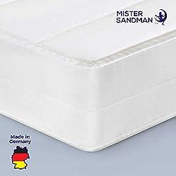 Mister Sandman Matelas Confort Mousse H2&H3 - Matelas roulé - pour Une Nuit paisible, fermeté 2en1 épaisseur 10 cm, Housse Microfibre et Amovible, Oeko-TEX 140 x 190 cm