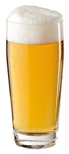 Arcoroc ARC 33049 Willi Willibecher, Bierglas, 630 ml, mit Füllstrich bei 0,5l, Glas, transparent, 12 Stück