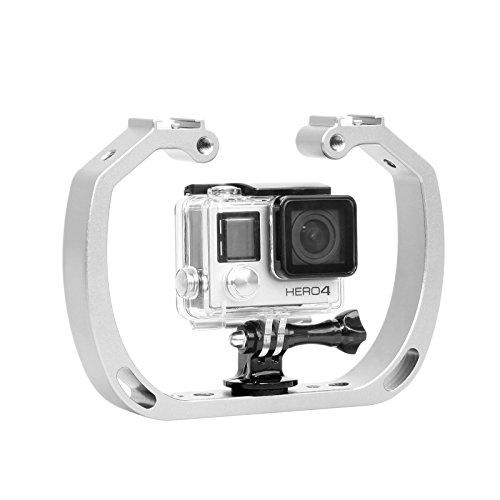 Mekingstudio Tauchen Unterwasser Doppel-Arm Handheld(Stabilisator Halter)mit 1/4'' Schraube für Sport Kamera Gopro Hero Session Xiaomi Yi SJCAM Action Kamera