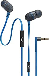 boAt BassHeads 220 Wired Headset With Mic (Blue)