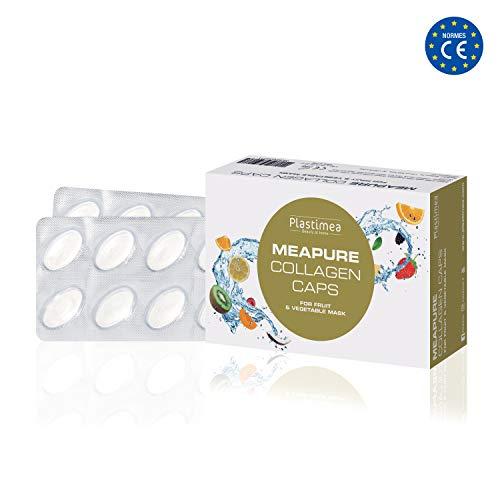 Kollagen Kapseln - Collagen Protein Pulver, Hyaluronsäure, Hydrolysat, Hyaluron Tabletten für Gesichtsmasken selber machen Kollagenmaske - Meapure & Meapure Steamer -