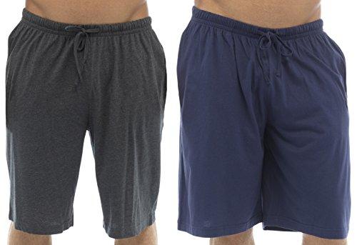 Tom Franks Pyjamahose 2 Stück Lounge Hose), Jersey-Baumwolle Blau / Grau
