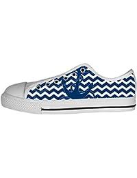 Dalliy Blau des Ozeans Anker Women's Canvas shoes Schuhe Lace-up High-top Footwear Sneakers