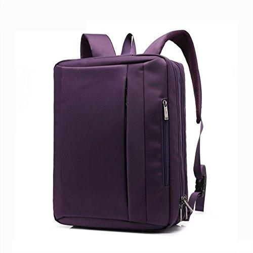 Hanf Messenger Tasche (Vielseitig Laptop Rucksack (17,3 / 15,6 Zoll) Freizeit Faltbar Rucksäcke Schultertasche Messenger-Paket Aktentasche Handtasche Reiserucksack Männer / Damen , purple , 15 inch)